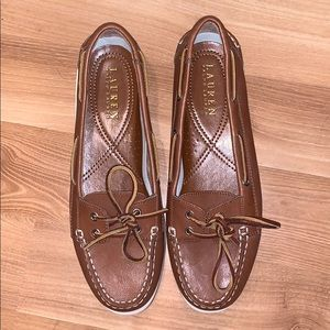 RL Ralph Lauren top-sider brown leather size 10